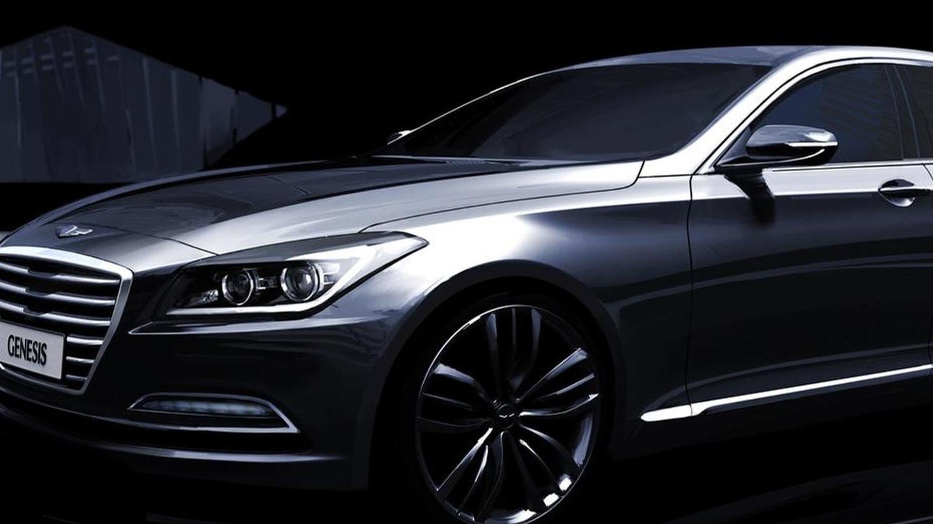 2014 Hyundai Genesis previewed in official renderings