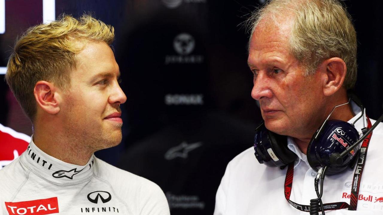 Sebastian Vettel with Dr Helmut Marko 20.09.2013 Singapore Grand Prix