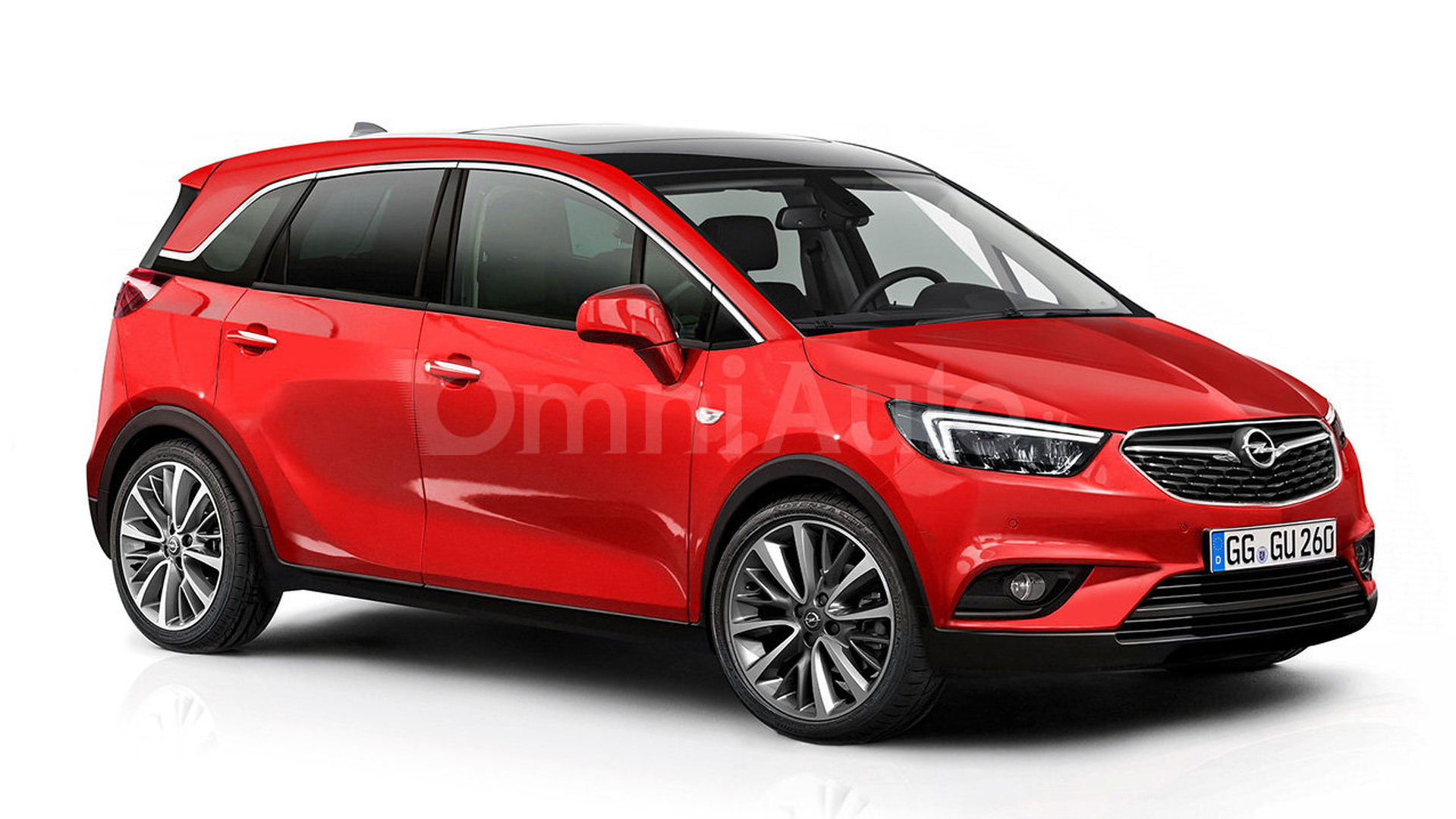 Opel Meriva rendered and spied showing interior