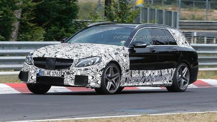 2015 Mercedes C63 AMG Estate spied on the Nurburgring