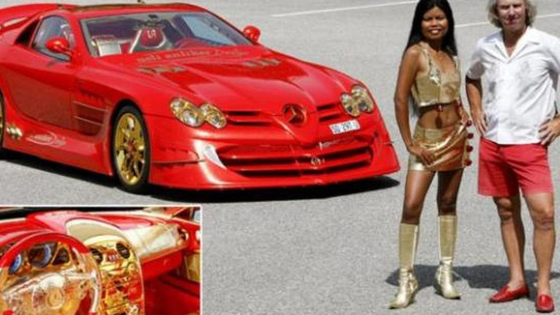 Gold covered 999bhp Mercedes McLaren SLR to sell for £7 million