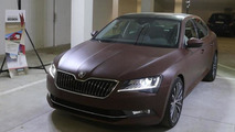 2015 Skoda Superb receives a full leather wrap