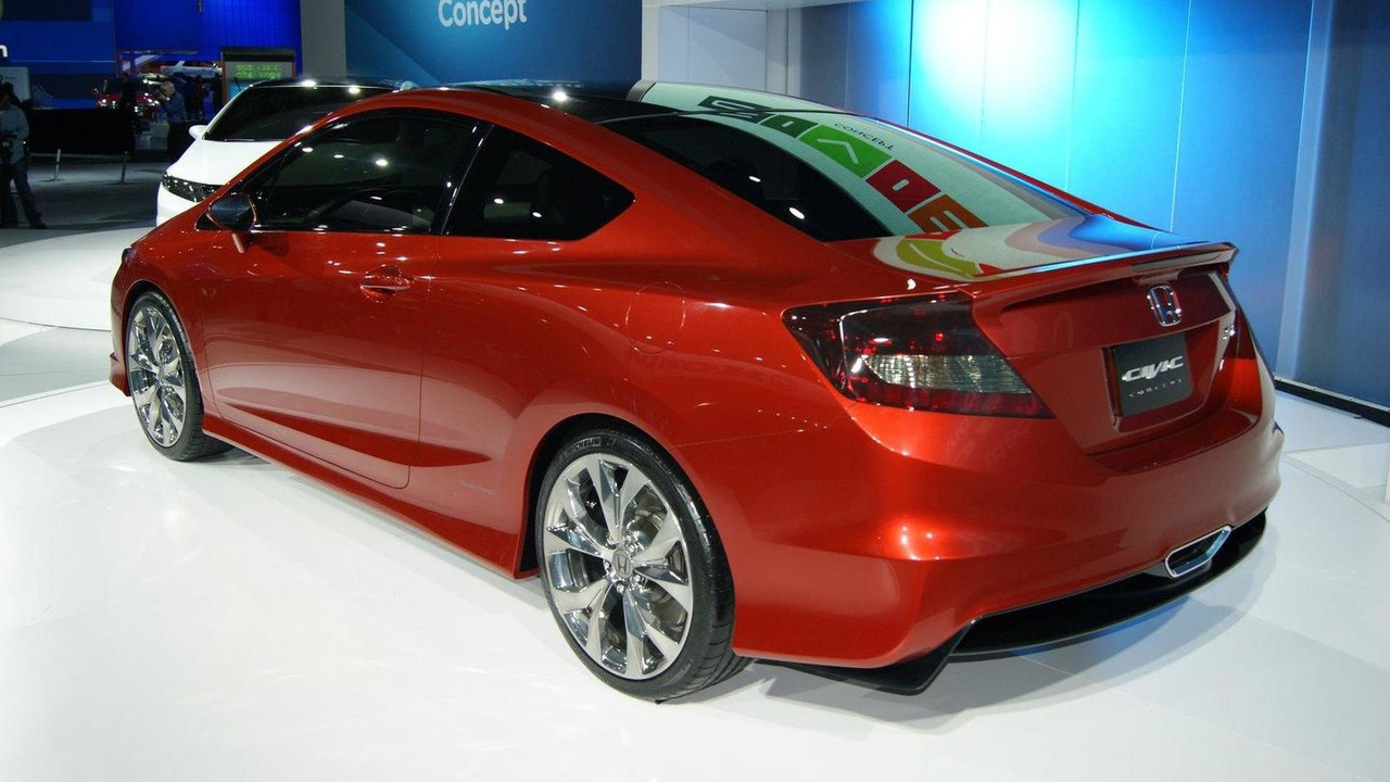 2012 Honda Civic Si Coupe Concept live in Detroit 10.01.2011