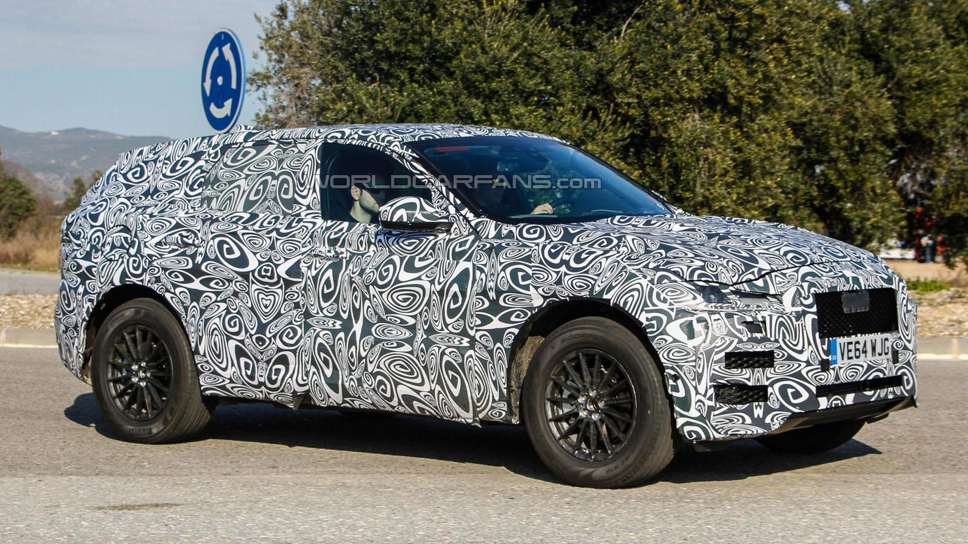Jaguar F-Pace spied for the first time wearing a production body