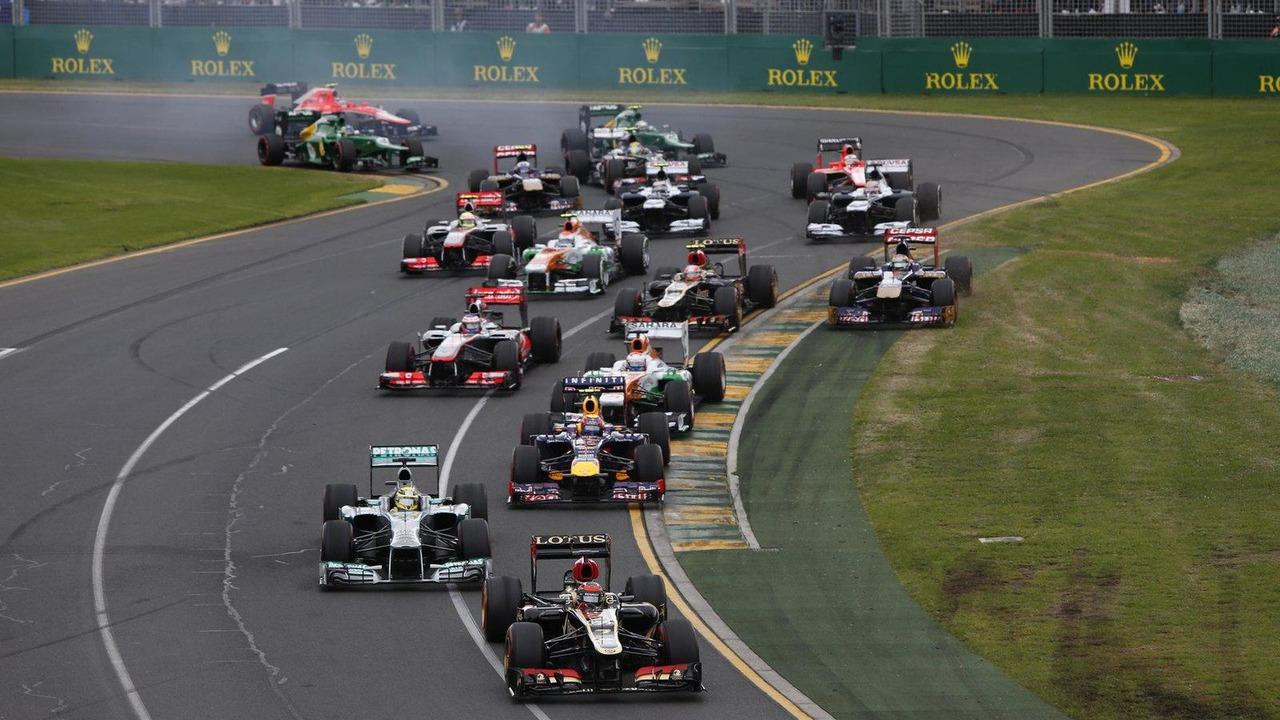 Australian Grand prix start race 17.03.2013