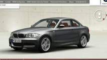 BMW 1-Series Coupé configurator