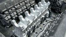 Crankcase aluminum insert in the casting die