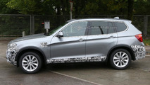 Barely disguised 2014 BMW X3 facelift spied with M-Sport trim