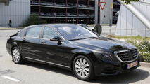 2014 Mercedes-Benz S-Class Pullman spied for the first time
