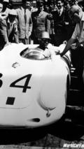 Porsche 550 A Spyder-Umberto Maglioli at the 1956