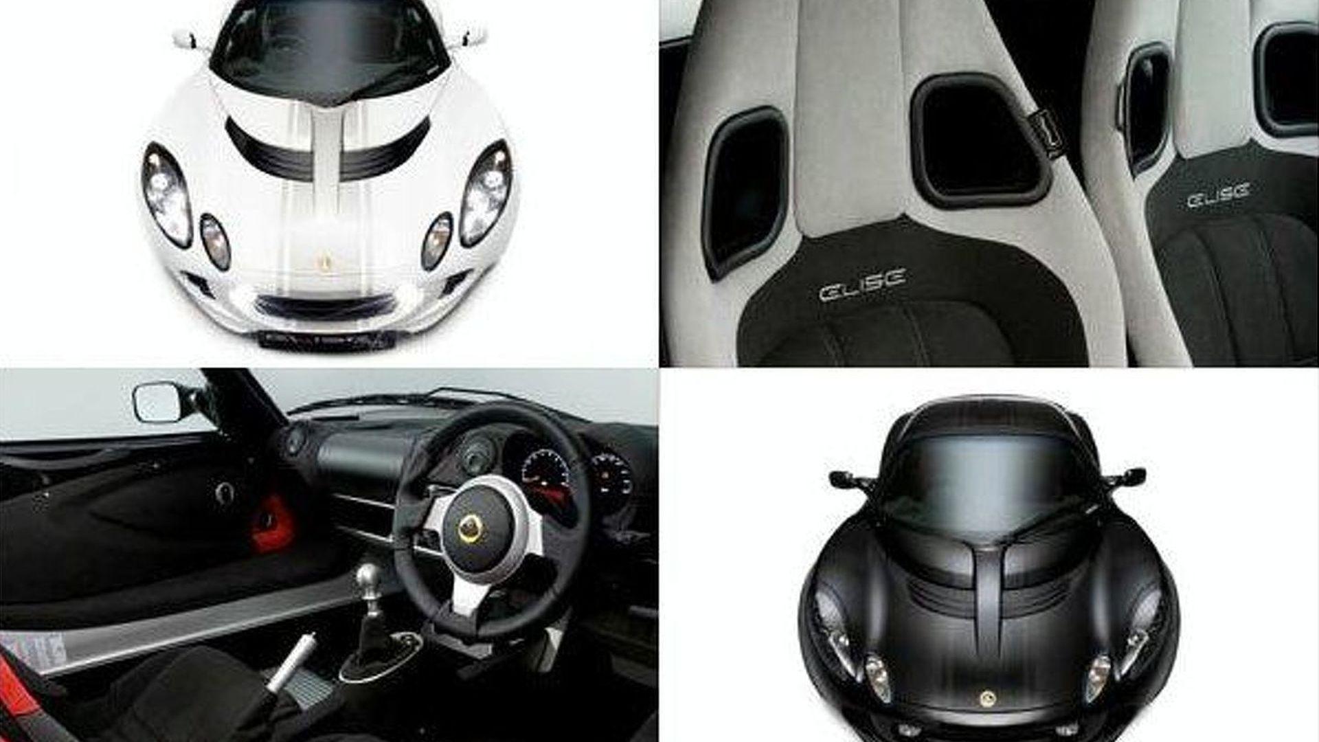 Lotus Elise Black & White Editions Announced - Porsche envy