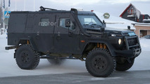 Mercedes G Class Light Armored Patrol Vehicle spied, looks indestructible