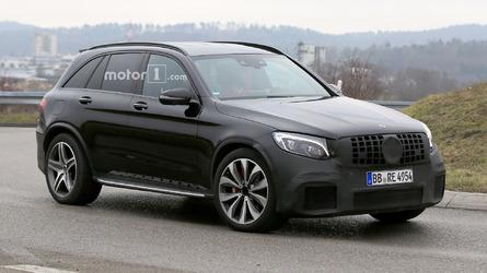 Best spy shots yet with the V8-powered Mercedes-AMG GLC 63