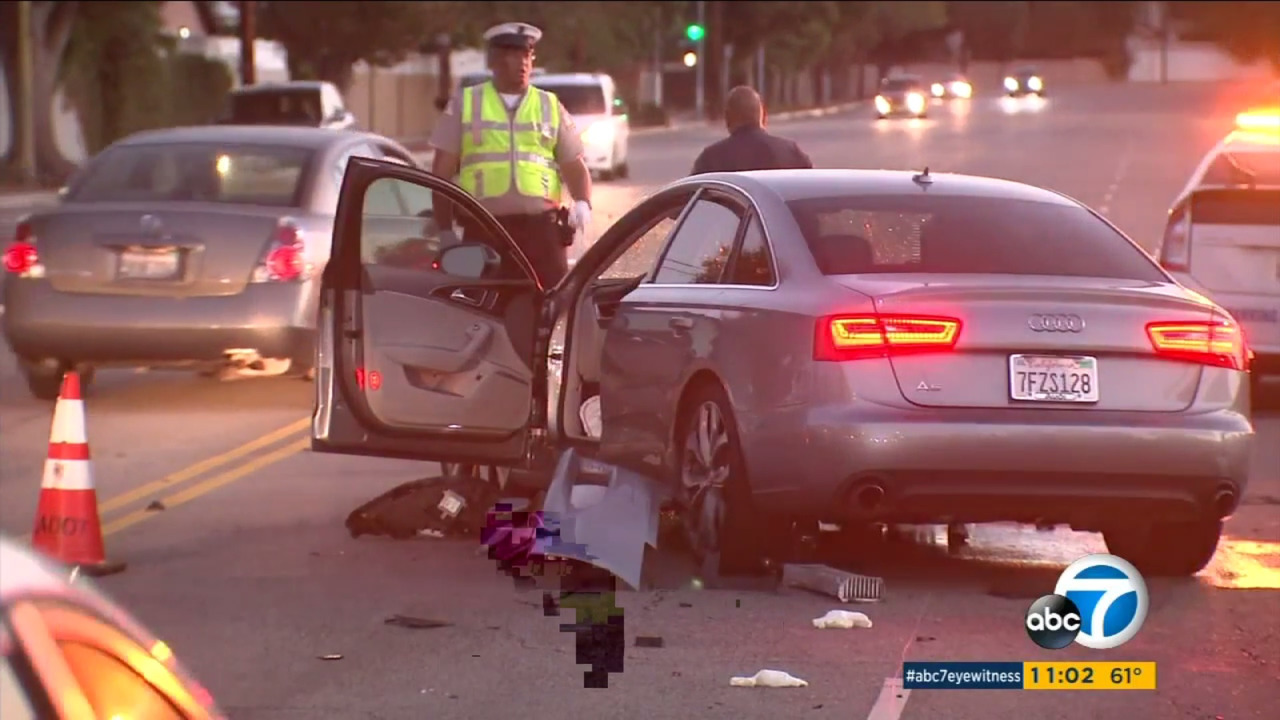 Audi A6 crash in Los Angeles
