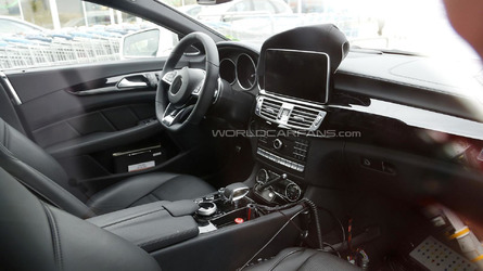 Facelifted Mercedes CLS 63 AMG Shooting Brake spied inside & out