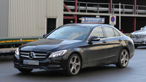 Mercedes-Benz C-Class with S-Class digital dashboard spy photo