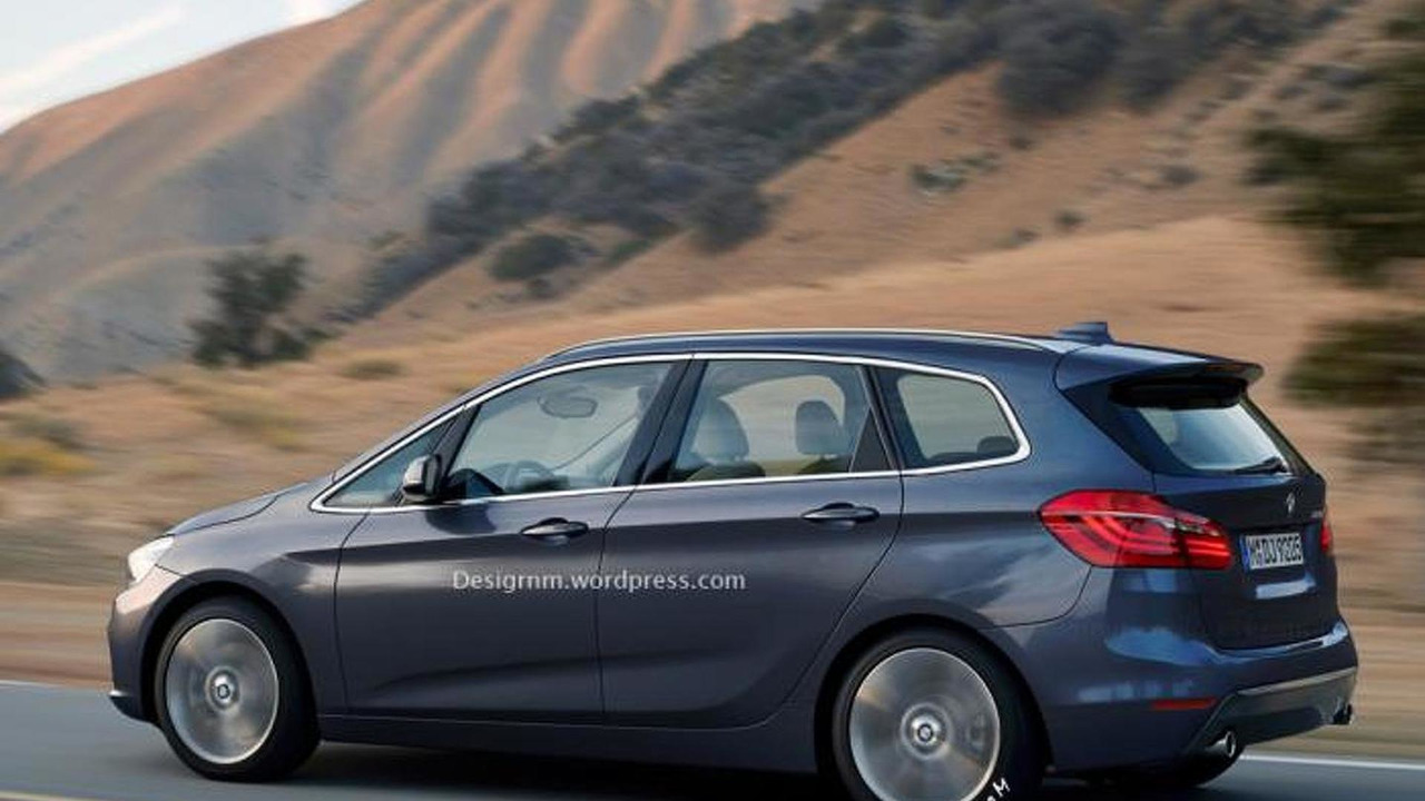 BMW 2-series Active Tourer seven-seater artist rendering