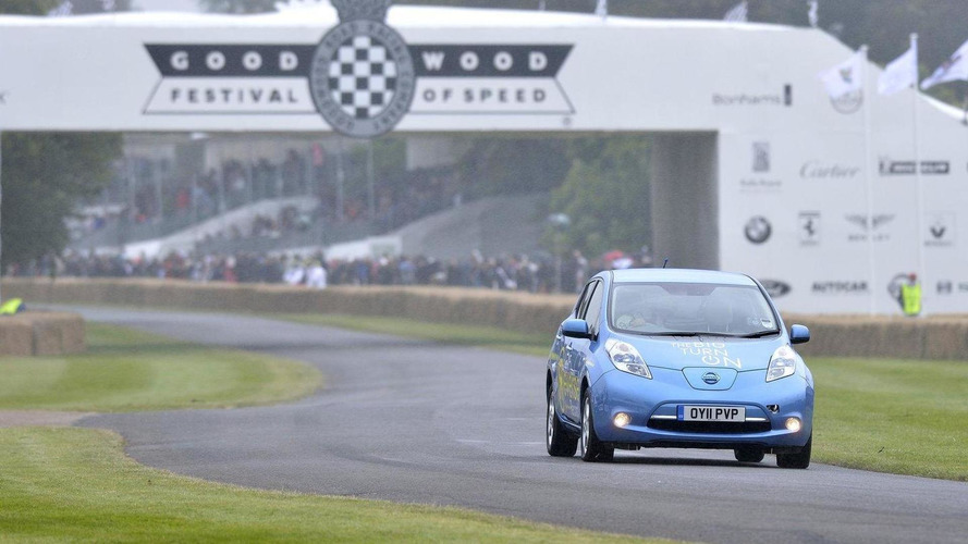 Nissan Leaf sets reverse record at Goodwood [videos]