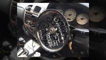 Mental Australian caught driving with frying pan steering wheel