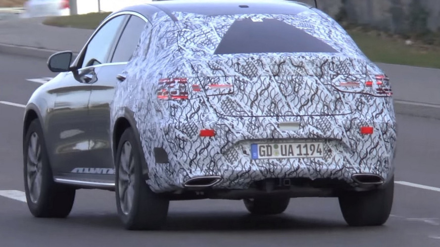 Mercedes GLC Coupe spotted briefly in motion [video]