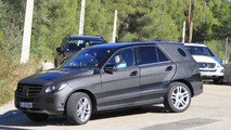 2012 Mercedes Benz ML spied testing against Cayenne, X5