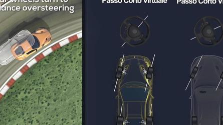 Ferrari shows off F12tdf's rear wheel steering system [video]