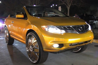 Nissan Murano Cross Cab on 30-inch Spinners, The New Worst Thing Ever