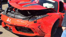 Ferrari 458 not so Speciale after crashing on Kyalami track in Johannesburg [video]