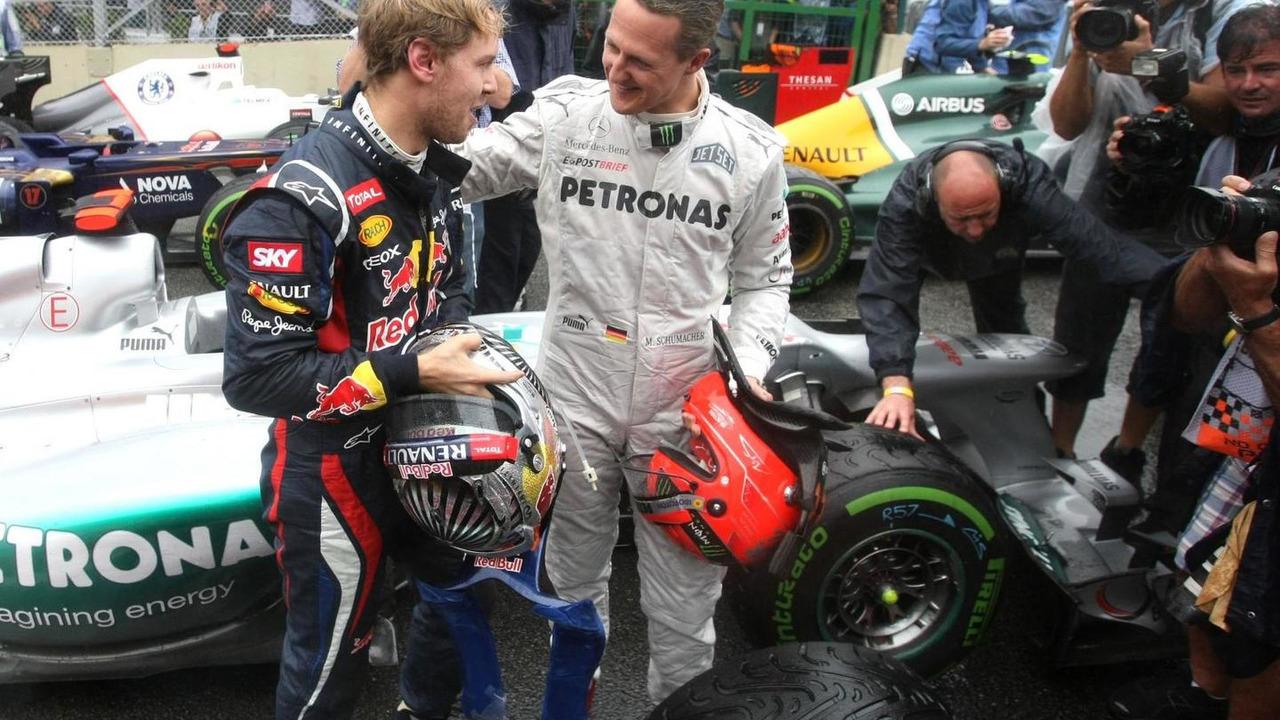 Sebastian Vettel and Michael Schumacher 25.11.2012 Brazilian Grand Prix