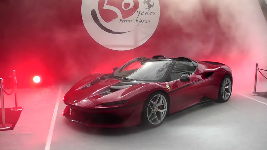 Watch Ferrari's swanky J50 unveiling in Japan
