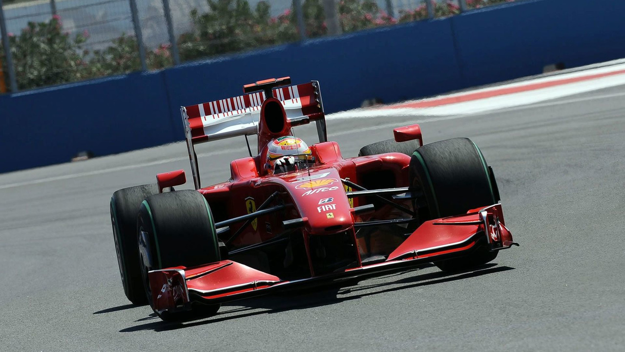 Luca Badoer during Qualifying for the European Grand Prix at the Valencia Street Circuit