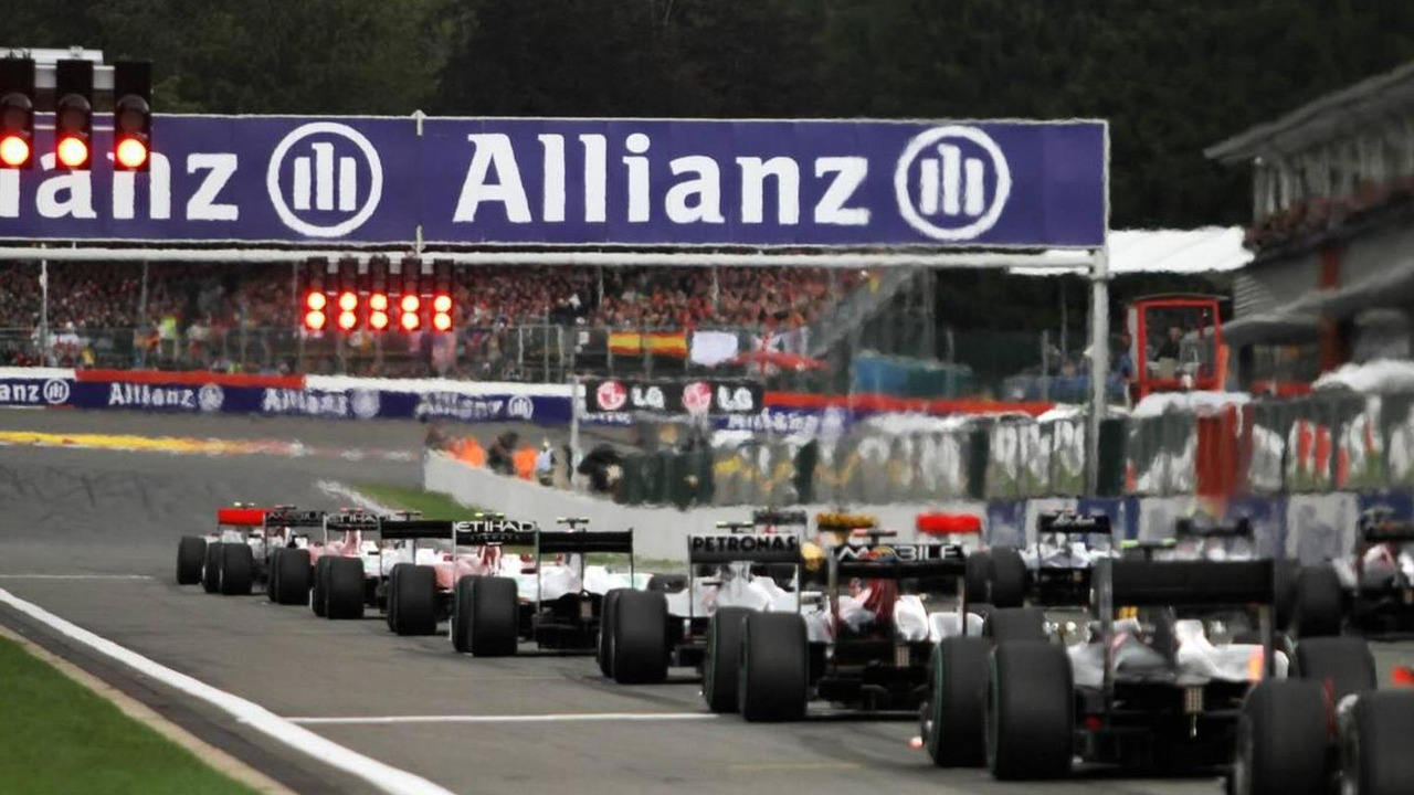 Start of the race - Formula 1 World Championship, Rd 13, Belgium Grand Prix