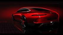 Mercedes-AMG GT Concept teases a four-door sports car