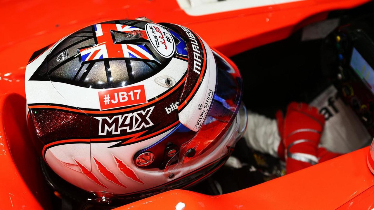 Max Chilton (GBR) carries the #JB17 hashtag as a message of support for Jules Bianchi, 10.10.2014, Russian Grand Prix, Sochi Autodrom / XPB