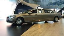 Mercedes Maybach S600 Pullman in Geneva / auto.163.com