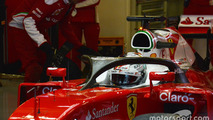 Ferrari pushes on with Halo testing