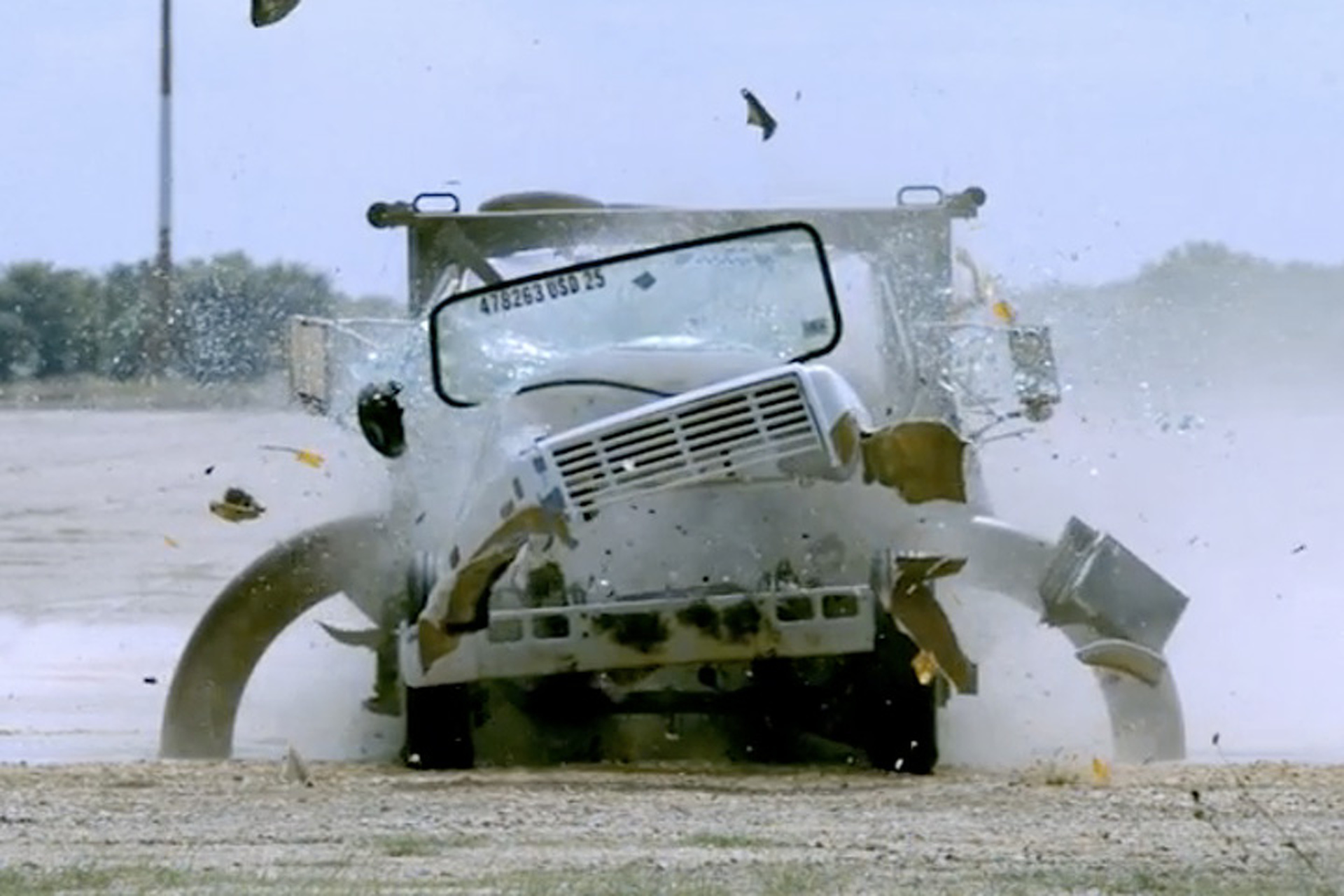 Watch Some Texans Destroy Trucks to Stop Terrorists