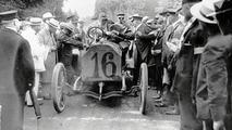 Gordon Bennett at the wheel of a 90 hp Mercedes
