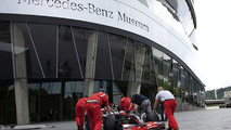 MP4-23 arrives at the Mercedes-Benz Museum
