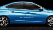 2014 Peugeot 308 Sedan digitally imagined