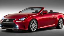 Lexus RC Convertible artist rendering