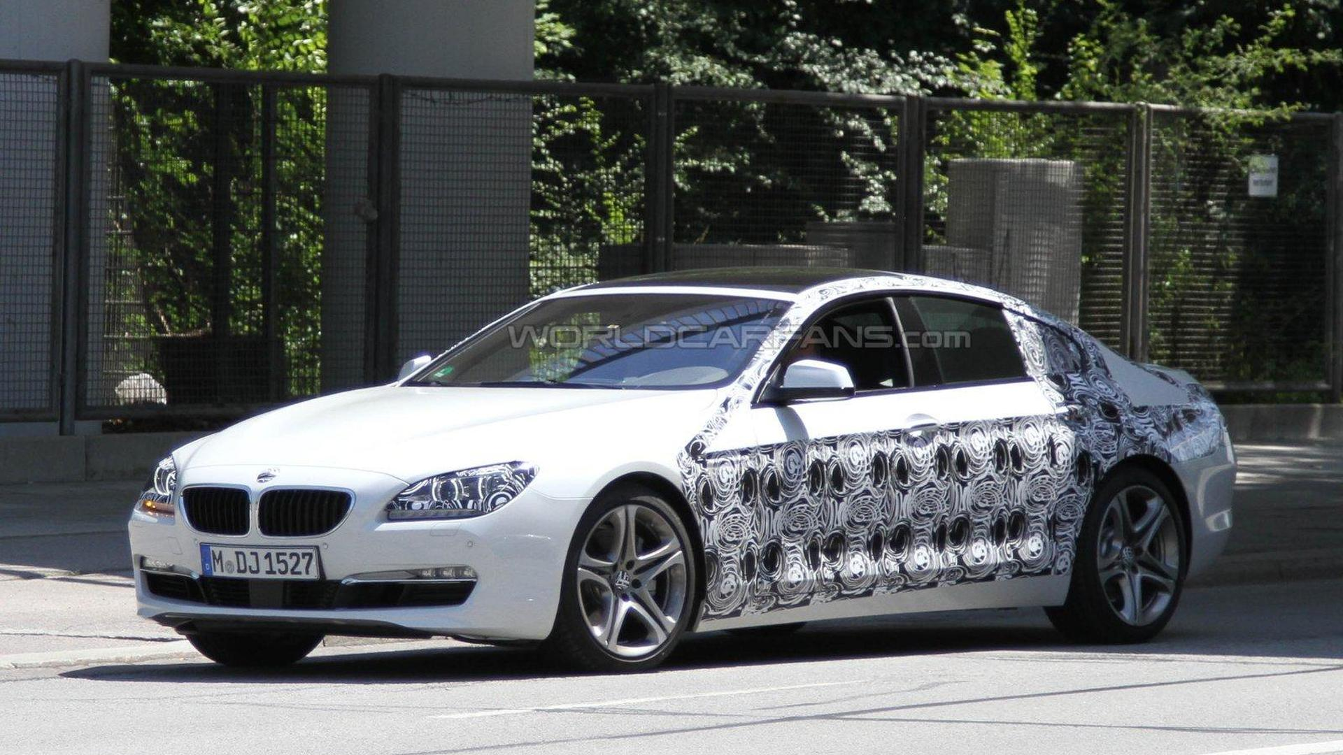 BMW 6-Series 4-door Gran Coupe spied