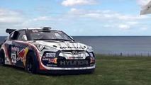Rhys Millen Hyundai Veloster on golf green, 1024, 25.01.2012