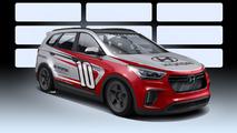 Behold the 1,040-hp, rear-wheel drive Hyundai Santa Fe