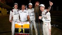 Race winners #1 Porsche Team Porsche 919 Hybrid- Timo Bernhard, Mark Webber, Brendon Hartley, Fritz Enzinger, Vice President LMP1, Porsche Team, Magnus Walker