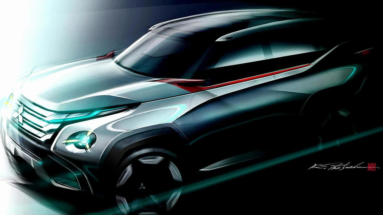 Mitsubishi GC-PHEV concept teaser photo 08.10.2013