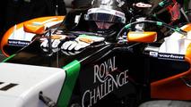 Sergio Perez with Sahara Force India F1 VJM07 28.01.2014 Formula One Testing Jerez Spain