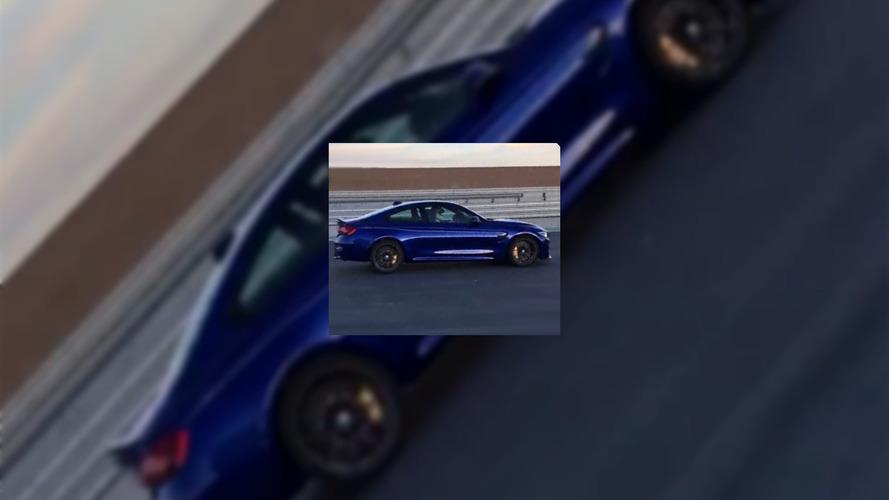 PHOTOS - La BMW M4 CS à découvert pendant le tournage de sa publicité