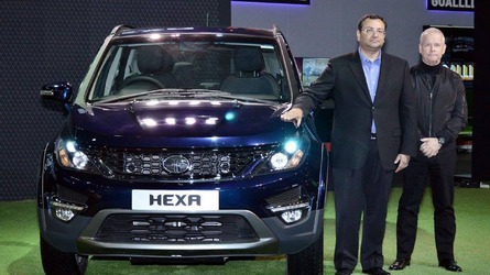 Tata Hexa arrives in production form at Auto Expo