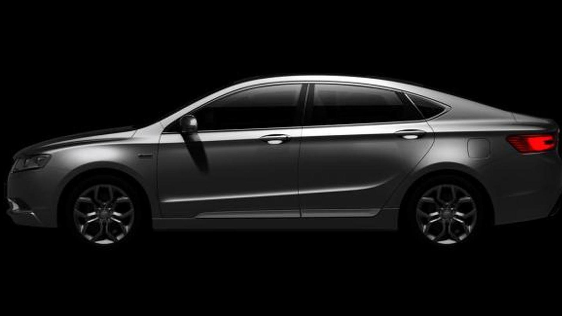Geely GC9 flagship model previewed ahead of reveal at Guangzhou Auto Show